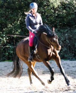 Shooting sportif cheval Ilona Gilles