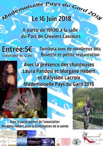 Affiche élection Mademoiselle Pays du Gard 2018
